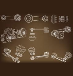 Belt gear vector