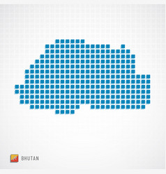 Bhutan map and flag icon vector