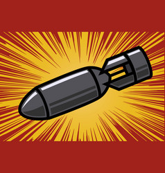 Bomb in comic book style design element for vector