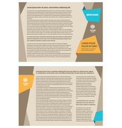 brochure design template tri-fold vector image
