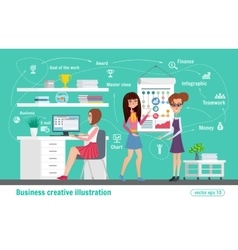 Business creative Women office vector image