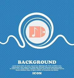 Cd player icon sign blue and white abstract vector