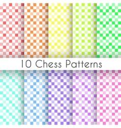 Chess plaid seamless patterns Endless texture vector
