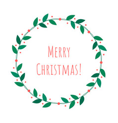christmas isolated wreath vector image