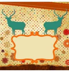 Christmas stylized speech card with deer EPS 8 vector image