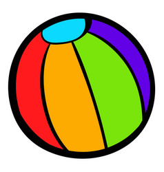Colorful ball icon icon cartoon vector