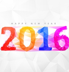 creative low poly 2016 happy new year design vector image