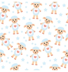 Cute cartoon sheep seamless texture children s vector
