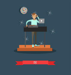 dj and musical equipment concept vector image