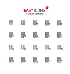 Easy icons 20a database vector