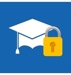 education hat icon vector image