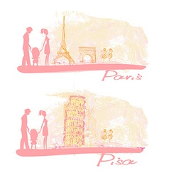 Family Travel Background vector
