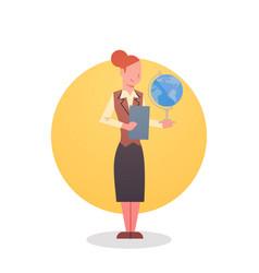 Female teacher icon school stuff worker vector
