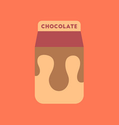 Flat icon on background coffee chocolate package vector