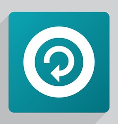 Flat reload icon vector