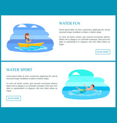 fun water sport colorful vector image