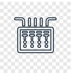 fuse box concept linear icon isolated on vector image