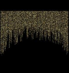 Garland lights gold glitter hanging vertical lines vector