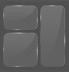 glass transparent banners collection vector image