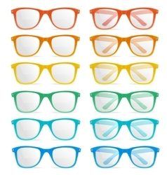 glasses color set vector image