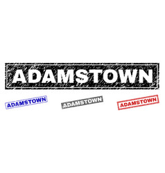 grunge adamstown textured rectangle stamps vector image
