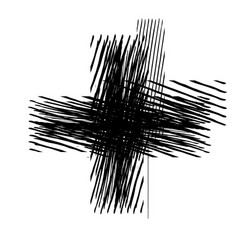 grunge isolated cross vector image