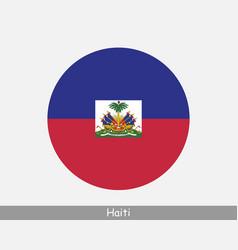 haiti round circle flag vector image