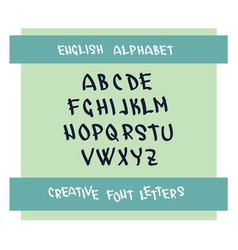 Handwritten font character symbols vector