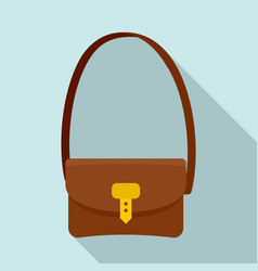 Hunter bag icon flat style vector