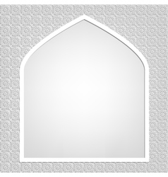 Islamic card vector image