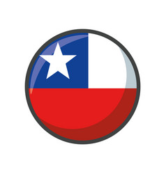 Isolated chile flag icon block design vector