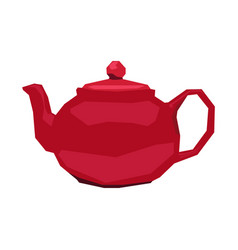 Isolated geometric teapot vector
