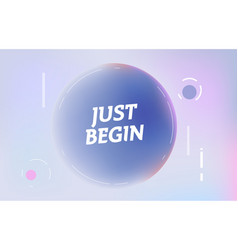 just begin on in design banner template vector image