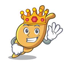 King exotic shell mascot cartoon vector