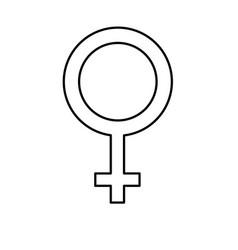 Line femele gender symbol to special event vector