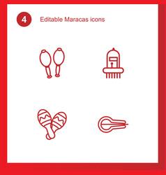 Maracas icons vector