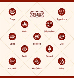 Meal icons vector image