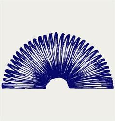Metal spring vector image