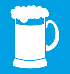 Mug of dark beer icon white vector