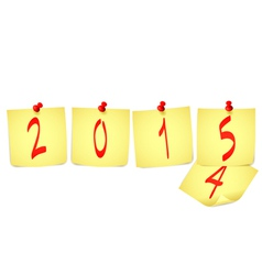 New Year paper note vector