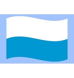 Official national flag of Bavaria vector image