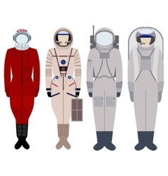 Pacesuits for spacewalk vector