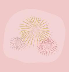 Paper sticker on stylish background firework vector
