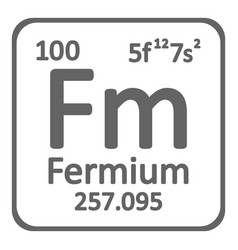periodic table element fermium icon vector image