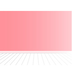 Pink wall with white floor interior vector