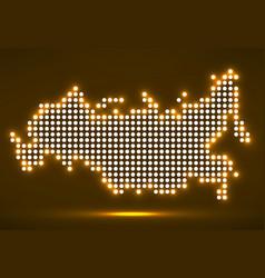 pixel map of russia vector image
