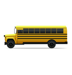 Realistic detailed 3d yellow school bus vector