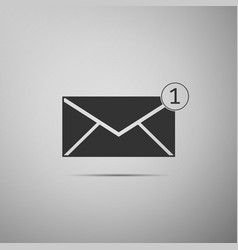 Received message concept new email vector