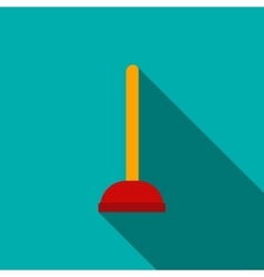 Red cup plunger icon flat style vector