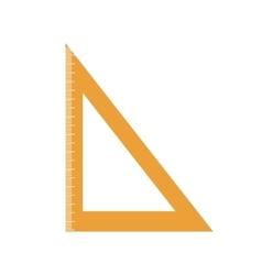 Rule orange school instrument icon graphic vector
